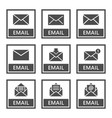 email icons set of envelope signs in vector image vector image