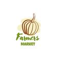 farmers market badge vector image vector image