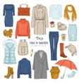 Fashionable Clothing Icon Set