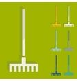 Flat design rake vector image