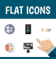 flat icon oneday set of fried egg cellphone vector image vector image