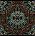greek floral mandalas seamless pattern colorful vector image vector image