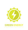 green energy logo design vector image vector image