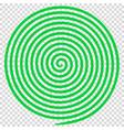 green round abstract vortex hypnotic spiral vector image
