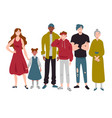 group people different ages childhood youth vector image vector image