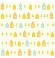 Houses and spruces pattern vector image