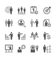 human resources icon set vector image