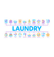 laundry service minimal infographic banner vector image vector image