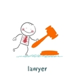 lawyer knocking hammer vector image
