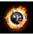 Loudspeaker on fire isolated vector image