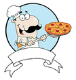 Male Pizzeria Chef vector image vector image