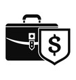 money leather case icon simple style vector image