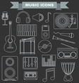 Music Instruments and Gadgets Big icon set vector image vector image