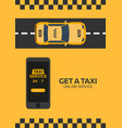 poster taxi service taxi car flat vector image vector image