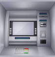 realistic a atm machine vector image vector image