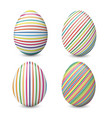 realistic set of easter eggs isolated on vector image