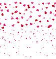 red and pink love heart romantic seamless pattern vector image vector image