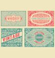 retro card set 4 templates layered vector image vector image
