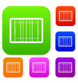 rugby field set collection vector image vector image
