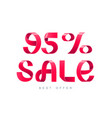 sale 95 percent off vector image vector image