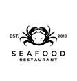 seafood crab lobster logo design inspiration vector image vector image