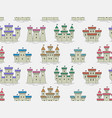 seamless pattern with colorful castles and fortres vector image vector image