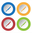 set of four icons - kitchen knife vector image vector image
