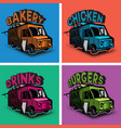 set of multicolored templates for fast food vector image vector image