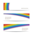 set of rainbow background vector image vector image