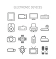 Set of simple flat icons with electric devices vector image vector image