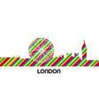 skyline of london vector image vector image