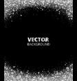 sparkling glitter border frame falling silver vector image vector image