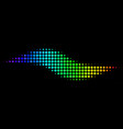 spectral colored dotted wave shape icon vector image vector image