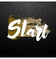 Start lettering design vector image vector image