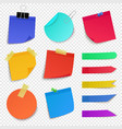 sticky paper notes notepaper sheet paper memo vector image