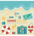 Summer composition with flat design icons Summer vector image