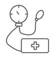 tonometer thin line icon medicine and health vector image vector image