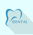 tooth logo icon flat style vector image vector image