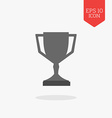 Trophy cup icon winner award concept Flat design vector image vector image
