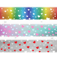 valentine hearts pattern color template vector image vector image