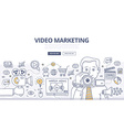 Video Marketing Doodle Concept vector image vector image