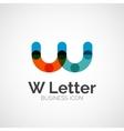 W letter logo minimal line design vector image