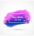 watercolor stain background design with text space vector image vector image