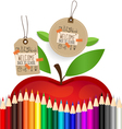 Welcome back to school Sale Coupon voucher and tag vector image
