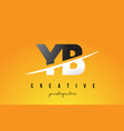 yb y b letter modern logo design with yellow vector image vector image