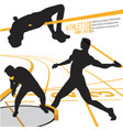 athletes sports action vector image