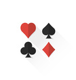 color playing cards suits collection icon vector image