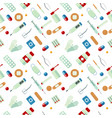 medical seamless pattern with drugs medicine vector image