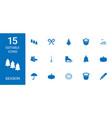 15 season icons vector image vector image