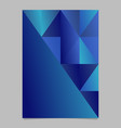abstract blue minimal gradient triangle brochure vector image vector image